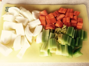 Mirepoix, the classic aromatic base