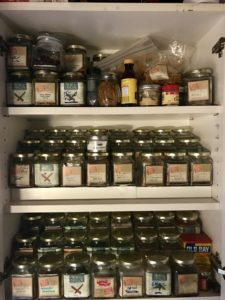 Herbs and spices need dark, cool temps, and airtight glass jars.