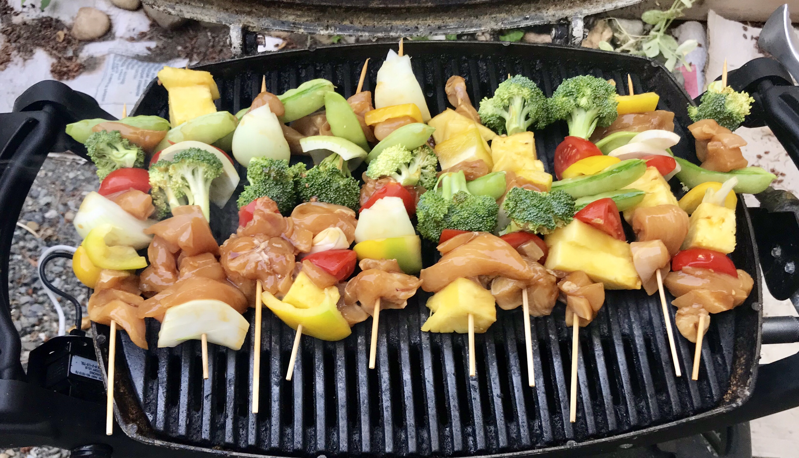 marinated skewers, full of summer goodness!