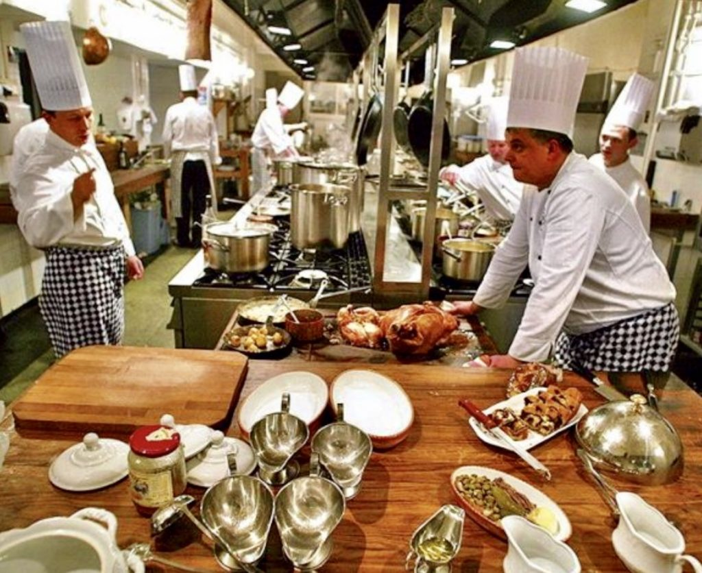 There's no chaos like that in a pro kitchen